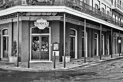 Photograph - Muriel's Bistro - Jackson Square - New Orleans - B/w by Greg Jackson
