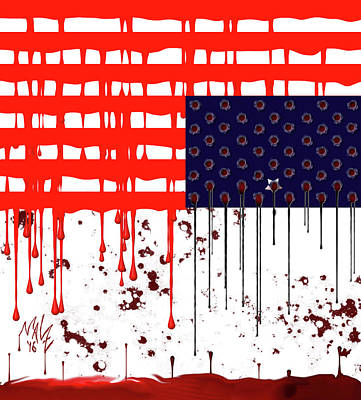Digital Art - America In Distress by Mal-Z
