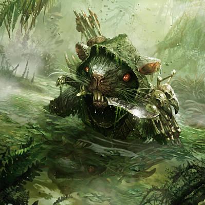 Swamp Digital Art - Murkwater Infiltrator by Ryan Barger