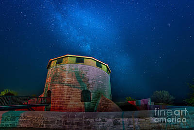Photograph - Murney Tower At Night by Roger Monahan