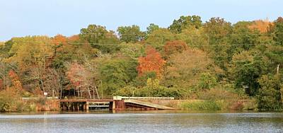 Photograph - Murphy Mill Dam/bridge by Jerry Battle