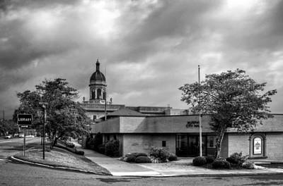 Murphy Photograph - Murphy North Carolina City Hall In Black And White by Greg Mimbs