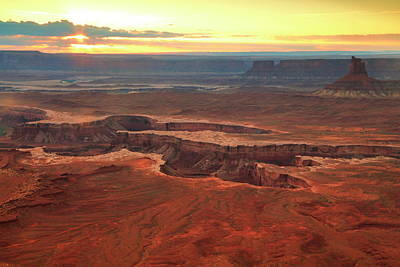 Photograph - Murphy Point Sunset Canyonlands National Park by Roupen  Baker