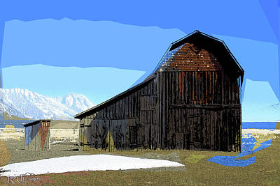 Mixed Media - Murphy's Barn by Rick Thiemke