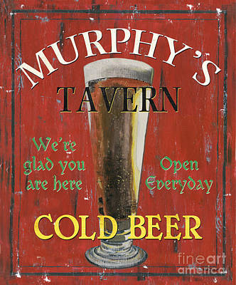 Beer Royalty-Free and Rights-Managed Images - Murphys Tavern by Debbie DeWitt