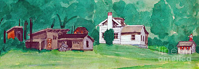 Painting - Murray Hill Watercolor by Fred Jinkins