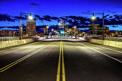 Photograph - Murray Morgam Bridge During Blue Hour In Hdr by Rob Green