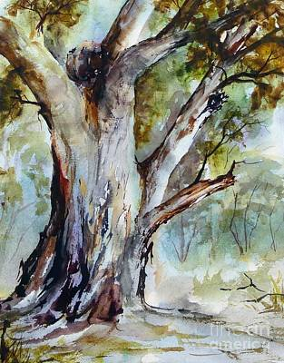 Painting - Murray River Gum, Cobram. by Ryn Shell