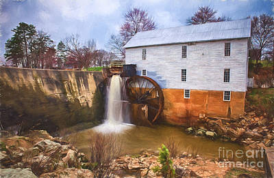 Historic Site Painting - Murrays Mill II by Dan Carmichael