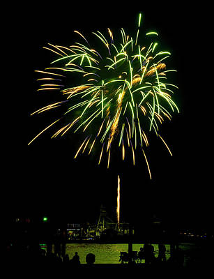 Art Print featuring the photograph Murrells Inlet Fireworks by Bill Barber