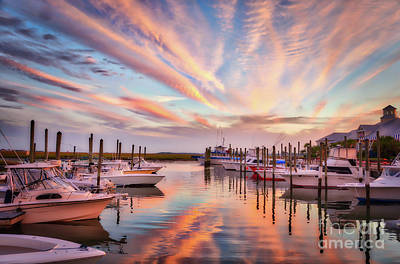 Photograph - Murrells Inlet Sunset 2 by Mel Steinhauer