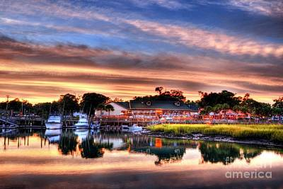 Shem Creek Photograph - Murrells Inlet Sunset 3 by Mel Steinhauer