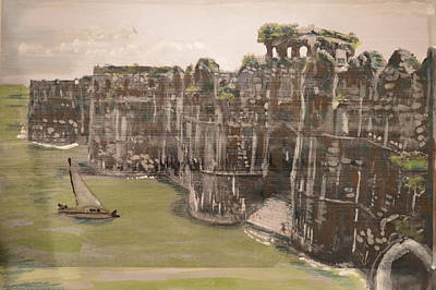 Painting - Murud Janjira Fort by Vikram Singh