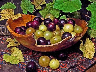 Muscadine Digital Art - Muscadines And Scuppernongs by Kerry Brown