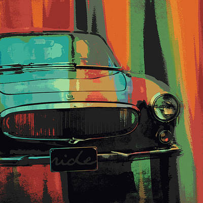 Hot Rod Mixed Media - Muscle Car by Brandi Fitzgerald