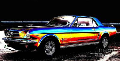 Photograph - Muscle Car Mustang by AZ Creative Visions