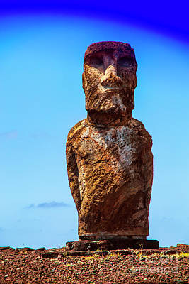 Photograph - Muscle Moai by Rick Bragan