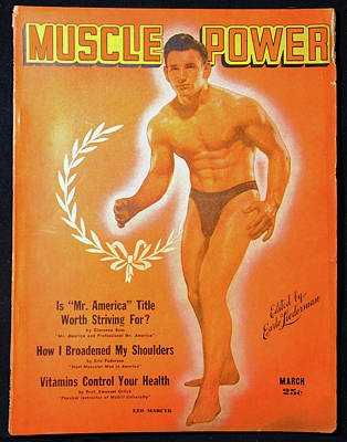 Photograph - Muscle Power Mag 1940s by David Lee Thompson