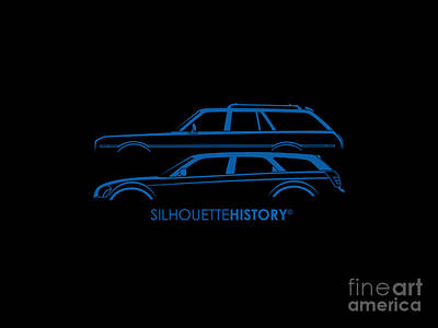 Muscle Wagon Silhouettehistory Art Print
