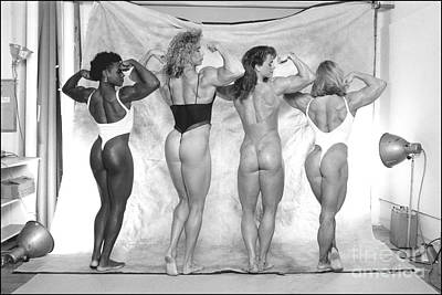Muscle Women Line Up Original by Peter Lerman