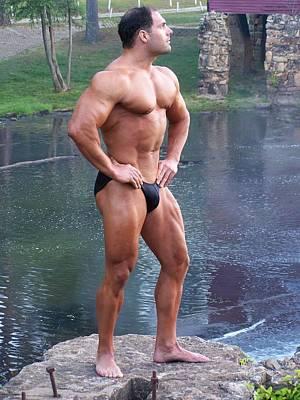 Muscleart Marius Full Pose Art Print by Jake Hartz