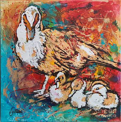Muscovy Ducklings Original by Jyotika Shroff
