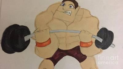 Drawing - Muscular Man by Charita Padilla