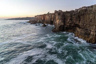 Photograph - Muscular Ocean - The Atlantic At Cascais Greater Lisbon Portugal by Georgia Mizuleva