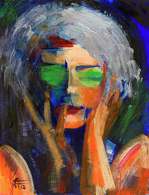 Painting - Muse Thinking by Walter Fahmy