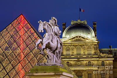 Photograph - Musee Du Louvre Courtyard by Brian Jannsen