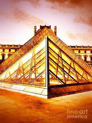 Historic Site Mixed Media - Musee Du Louvre by Daniel Janda
