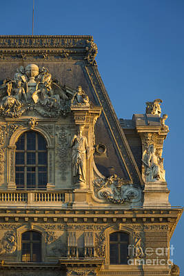 Photograph - Musee Du Louvre Roof Detail by Brian Jannsen
