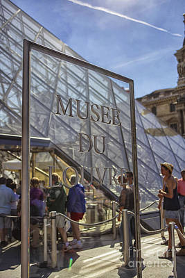 Photograph - Musee Du Louvre Sign  by Patricia Hofmeester