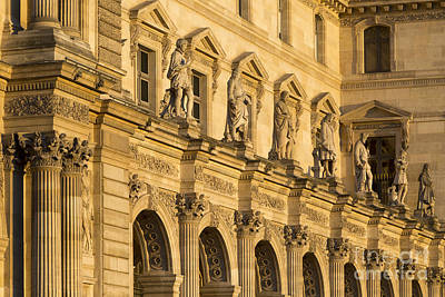 Photograph - Musee Du Louvre Statues At Sunset by Brian Jannsen