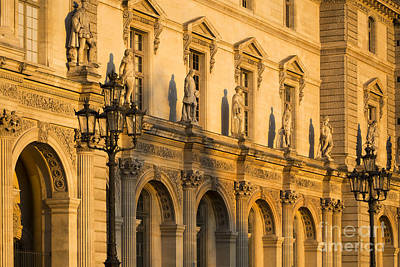 Photograph - Musee Du Louvre Statues At Sunset II by Brian Jannsen