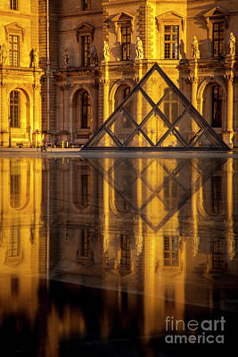 Photograph - Musee Du Louvre Sunset II by Brian Jannsen