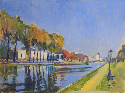 Meuse Painting - Musee La Boverie Liege by Nop Briex