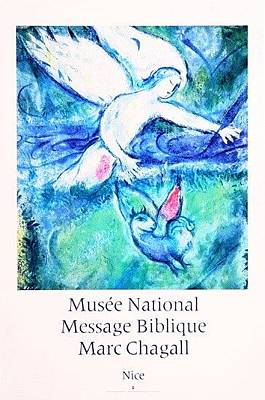 Mourlot Painting - Musee National Message Biblique by Marc Chagall