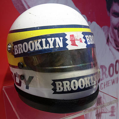 Photograph - Museo Ferrari Helmet Of Jody Scheckter In The 1970s by Paul Fearn