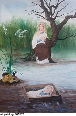 Prophet Moses Painting - Moses Prophet by Maryam Hoseinjo