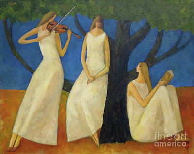 Painting - Muses On The Shore by Glenn Quist