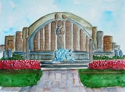 Cincinnati Ohio Painting - Museum Center by Elaine Duras