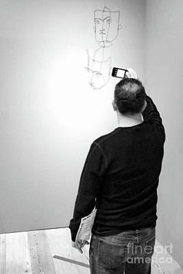 Photograph - Museum Man   #3975 Ip by John Bald