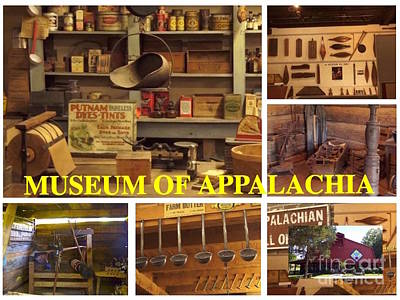 Digital Art - Museum Of Appalachia Block Collage by Karen Francis