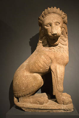Photograph - Stone Lion - Museum Series 85 by Carlos Diaz