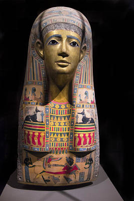 Photograph - Egyptian Statue - Museum Series Y1 by Carlos Diaz