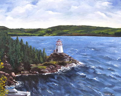 Musgravetown Lighthouse Art Print by Diane Daigle