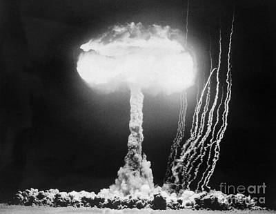 Photograph - Mushroom Cloud At Nevada Test Site by H Armstrong Roberts ClassicStock