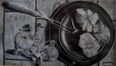 Mushroom Dinner Art Print by Eric Hausel