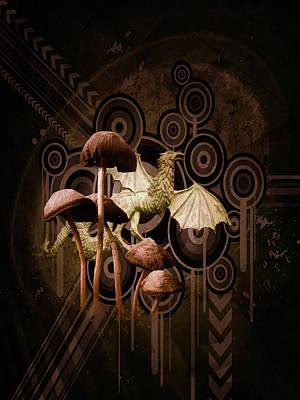 Mushroom Dragon Art Print